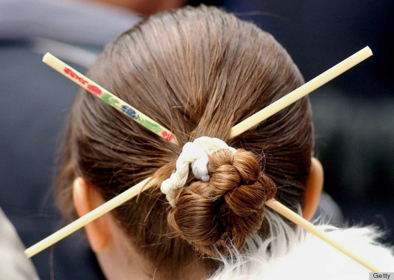 Hair stick hairstyles