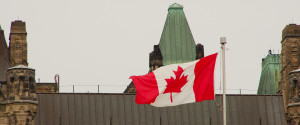 Canadian Flag Parliament