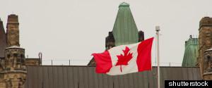 CANADIAN FLAG PARLIAMENT
