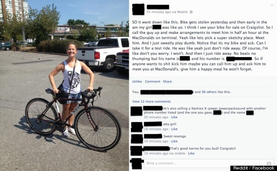 girl steals bike back