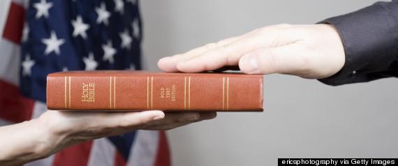 hand on bible oath