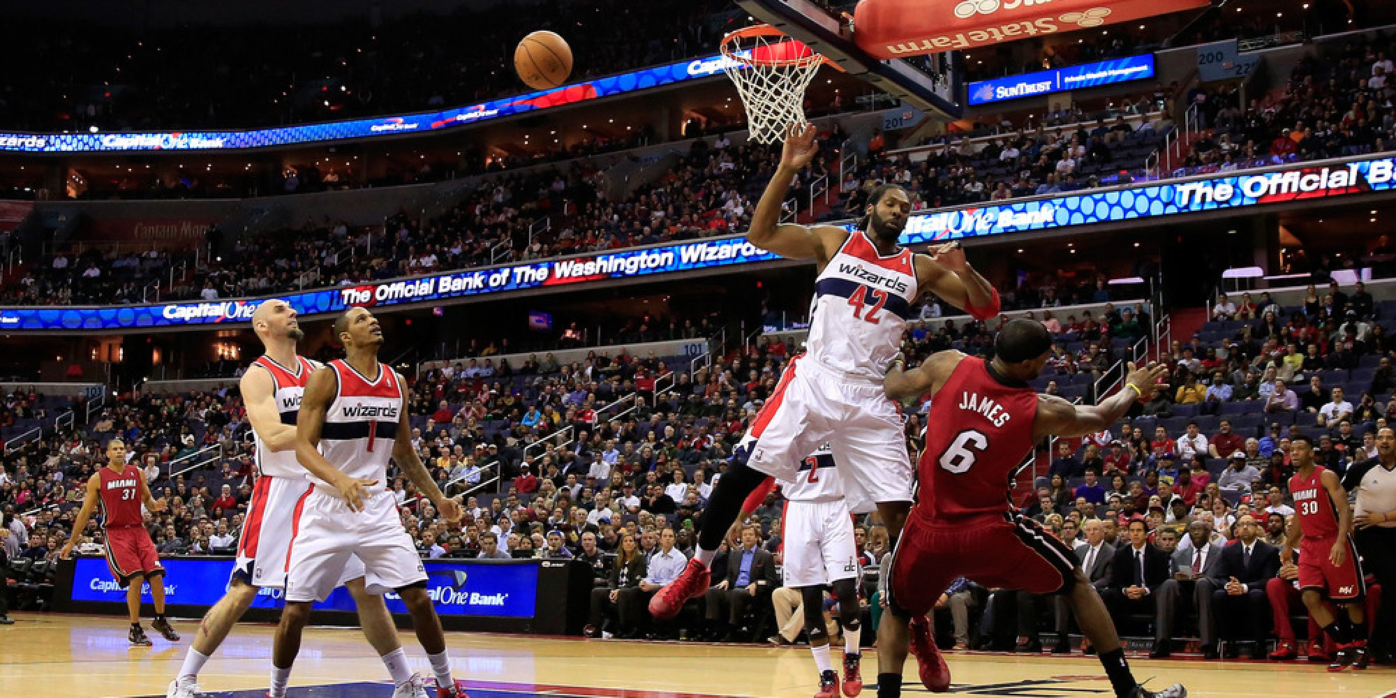 Nene Rejected LeBron James And Then Posterized Him (VIDEOS) | HuffPost