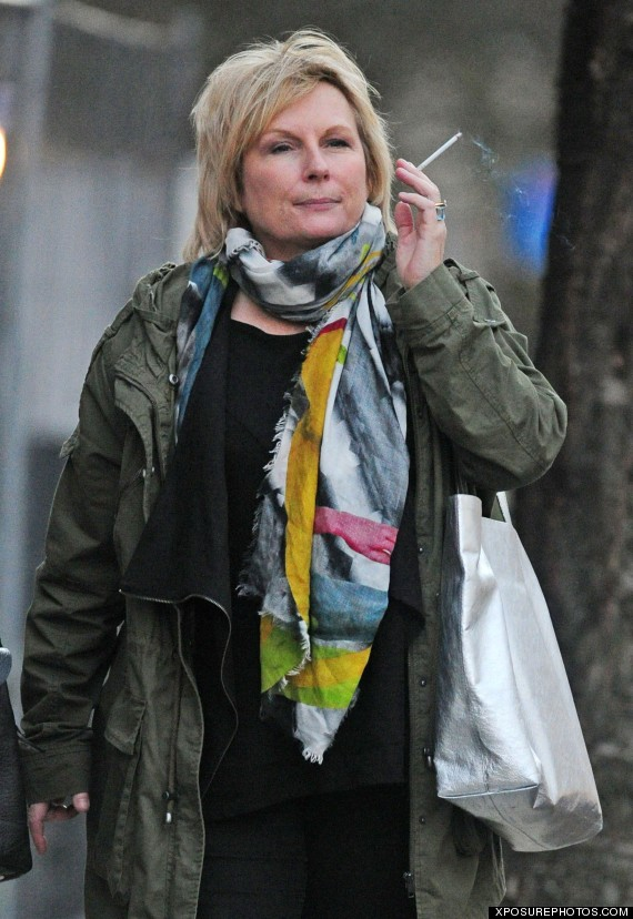 jennifer saunders smoking