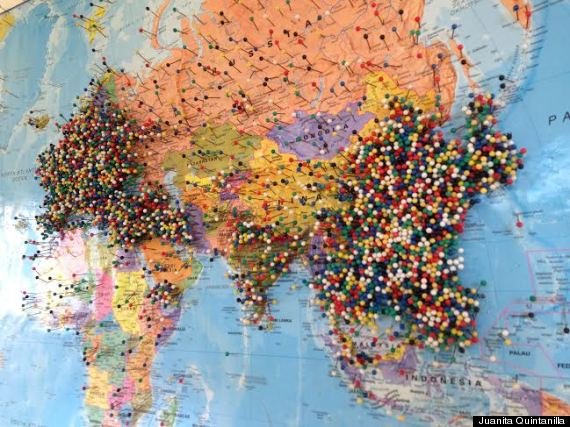 World Map With Pins Phils Fish Market Where Are You From Map Looks