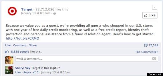 target fb scam