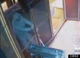 WATCH: Would-Be Burglar Foiled By Pulling Unlocked Door Marked 'PUSH'