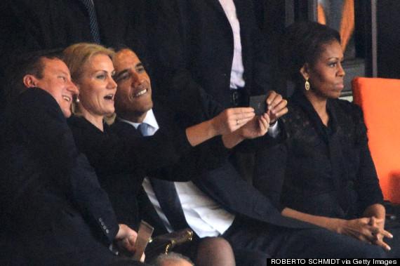 michelle obama mandela memorial