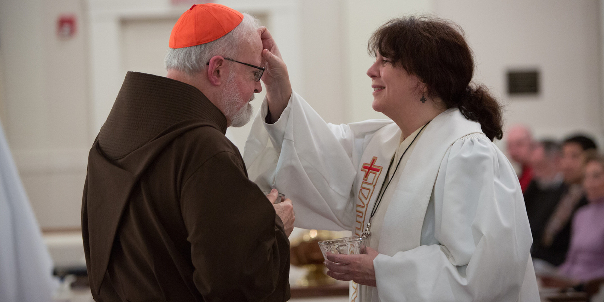 Image result for cardinal o',malley blessing woman bishop
