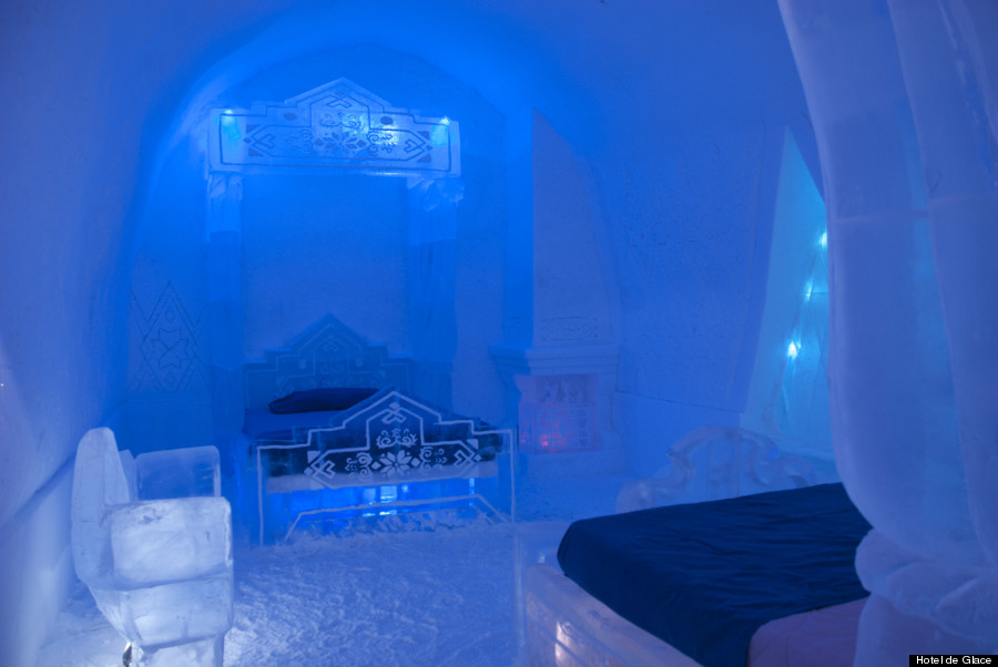 39 Frozen 39 Suite At Hotel De Glace Is Super Cool Huffpost