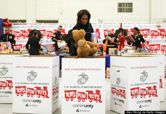 Toys For Tots Introduction : Reasons to love michelle obama on her th huffpost