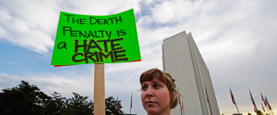 ANTI DEATH PENALTY PROTESTER