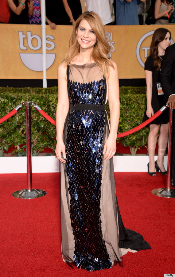 Claire Danes' SAG Awards Dress 2014 Is A Dark Change Of Pace (PHOTOS ...