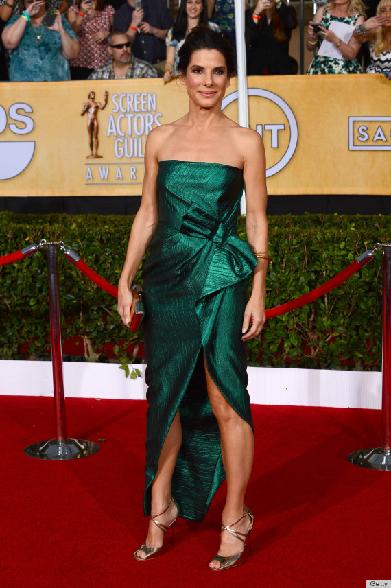 Sandra Bullock's SAG Awards Dress 2014 Is A Glowing Lanvin ...