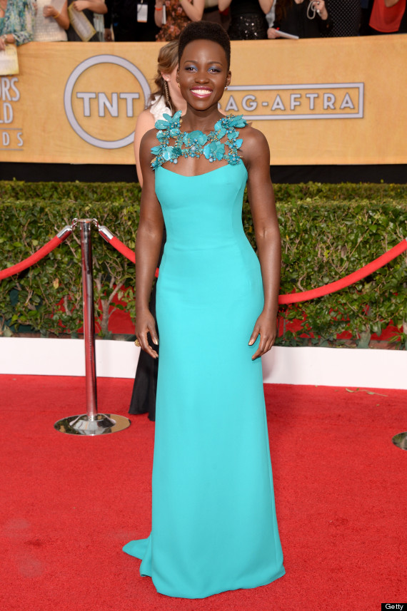 lupita nyongo sag awards dress
