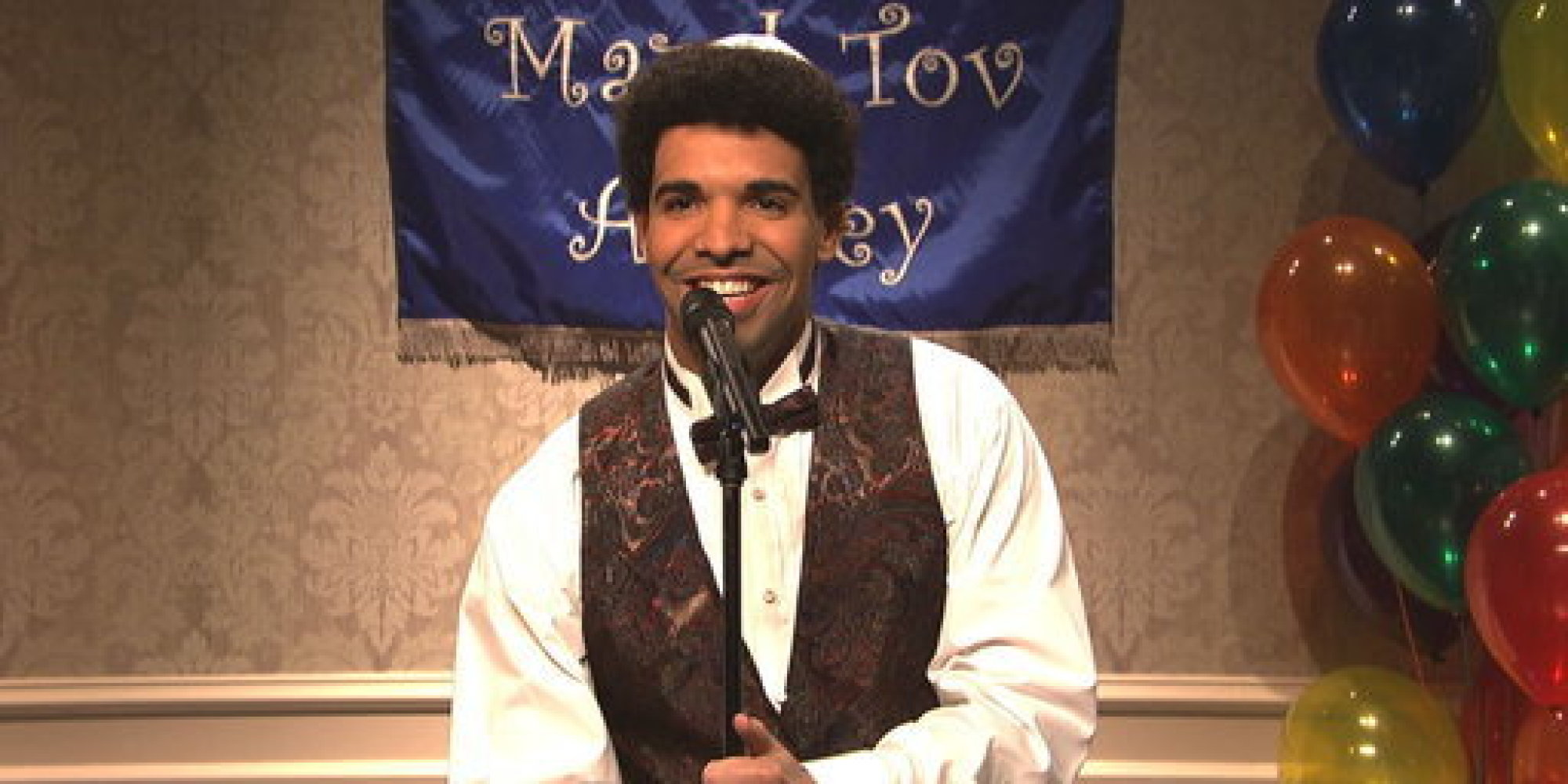 drake goes back to his own bar mitzvah in snl monologue