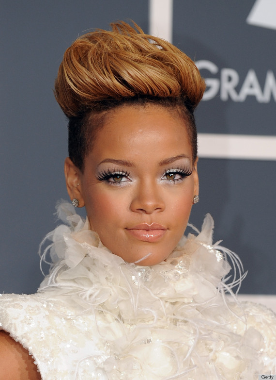 rihannas grammys hair is the best thing about the grammys