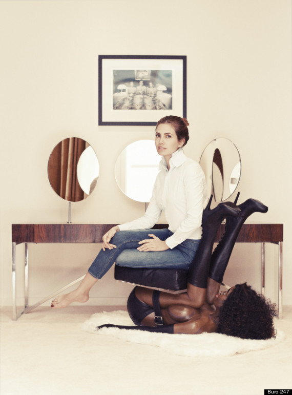 Shock as  Russian Editor Sits On A 'Black Woman' Chair  (PHOTO)