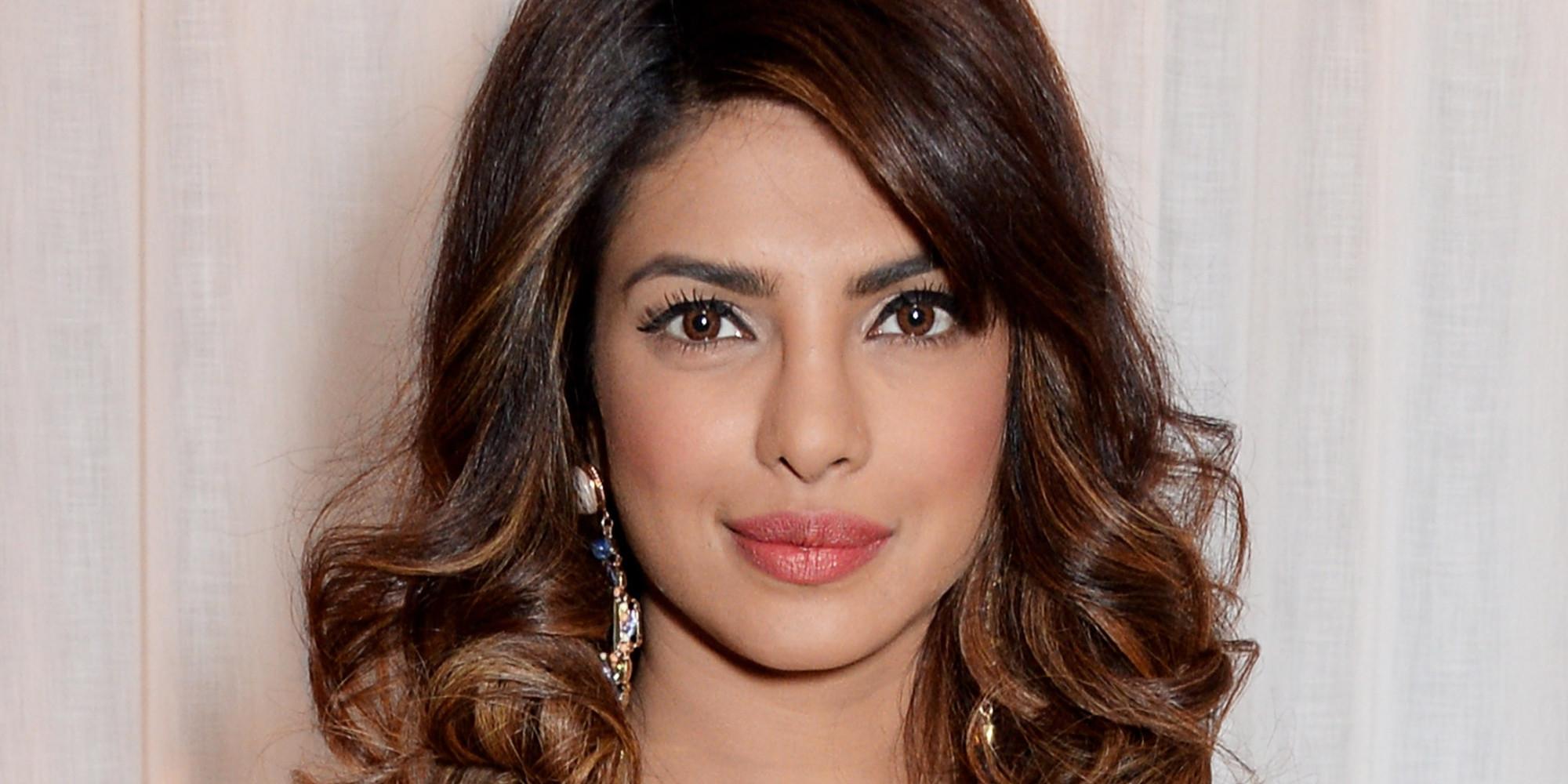 priyanka chopra looks gorgeous in sexy satin bustier dress