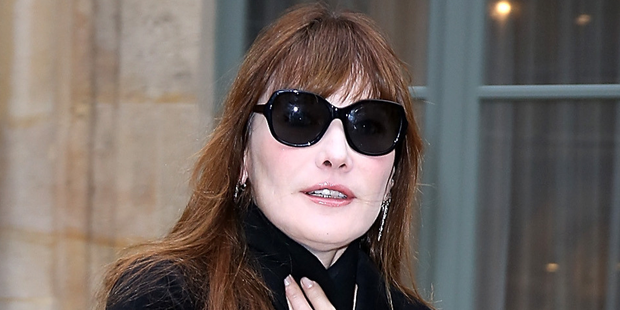 Carla Bruni Hits Fashion Show In Leather Pants Because