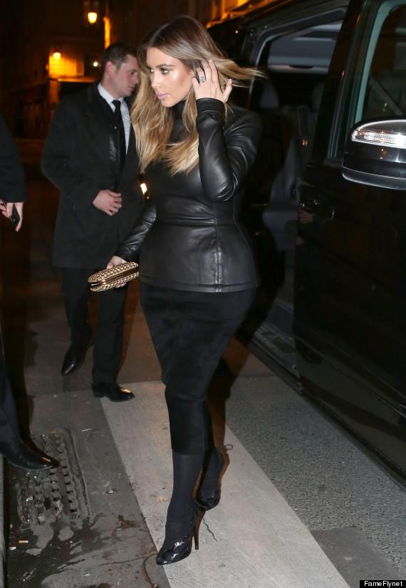 image Leather in kim kardashian style