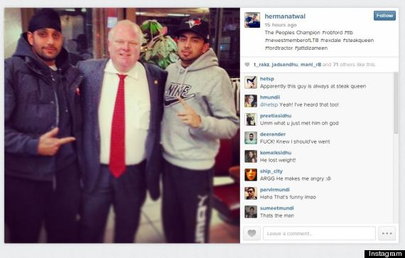 rob ford instagram