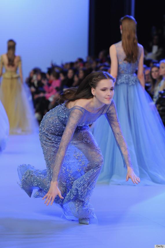 Model Fall At Elie Saab Show Has Us Cringing Photos