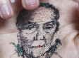 Artist Physically Stitches Portraits Of Loved Ones Into The Palm Of His Hand