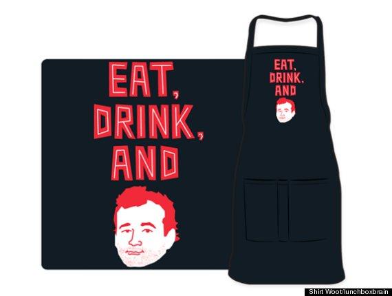bill murray tshirt apron