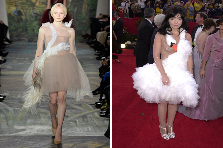 Valentino Takes A Page Out Of Bjork\'s Book With Swan Dress (PHOTOS)