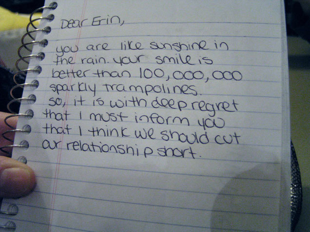 These breakup letters are the best and worst weve ever seen bl expocarfo Images