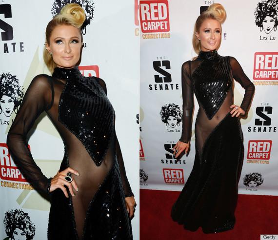 Paris Hilton Tries To Reignite The Unfortunate No-Underwear Dress
