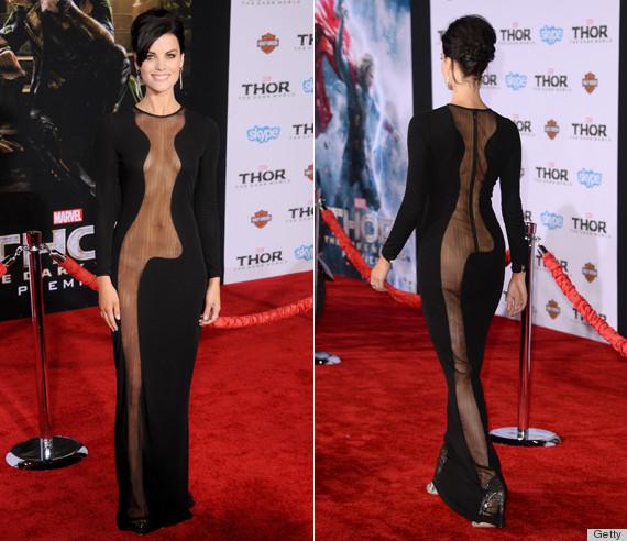 sheer side butt dress