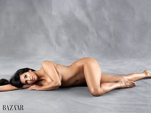 Kim Kardashian Poses Naked for Harper's Bazaar