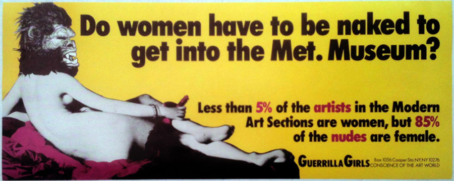 13 Vintage Guerrilla Girl Posters That Made The Art World A Better ...