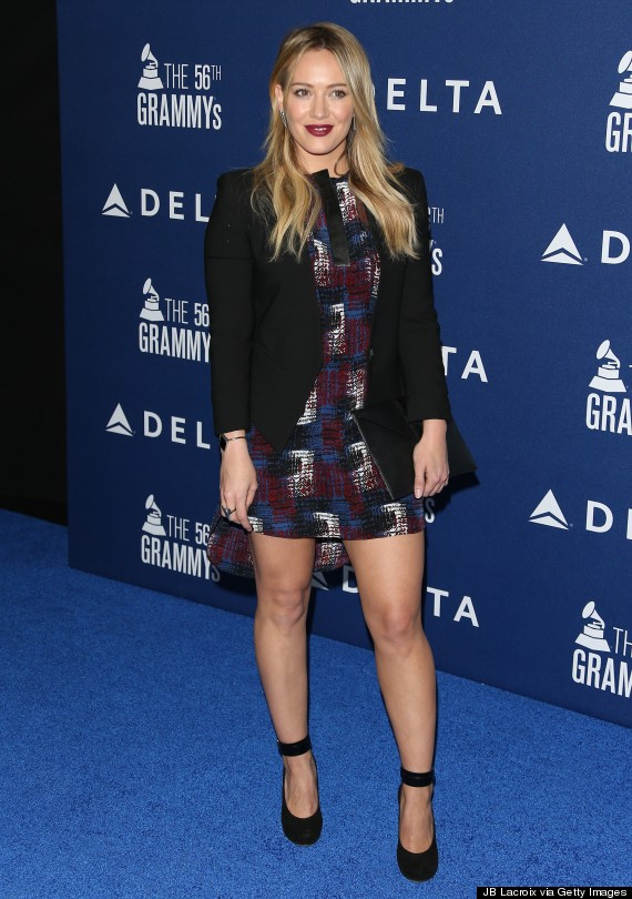 hilary duff red carpet