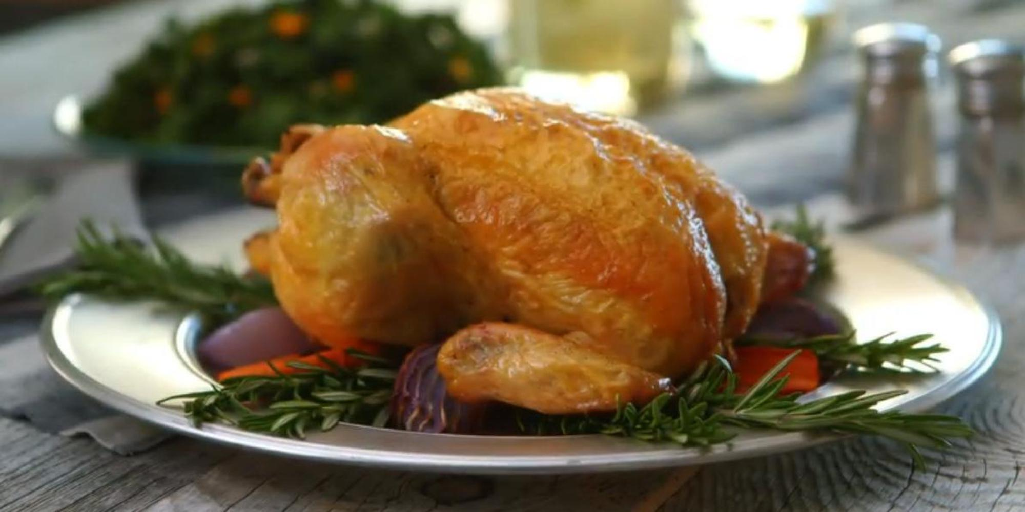 Sunday Dinner: Lemon Rosemary Roasted Chicken (VIDEO)