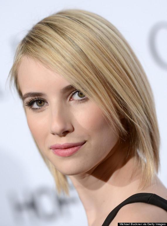 Emma Roberts Debuts Sleek Shorter Haircut Huffpost