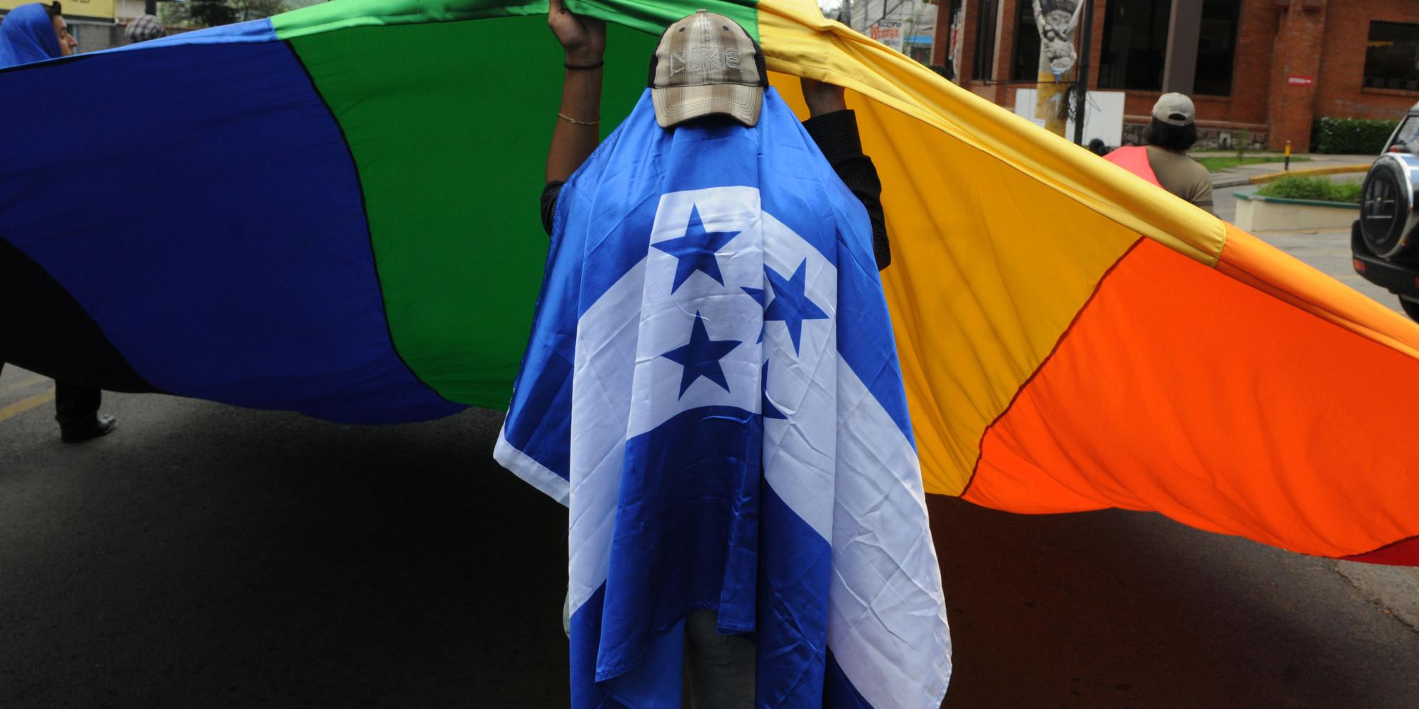 Honduras--flag--gay--rights--protest