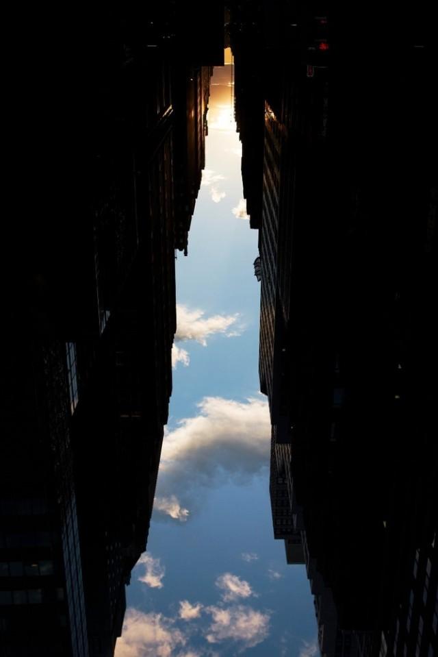 buildings made of sky