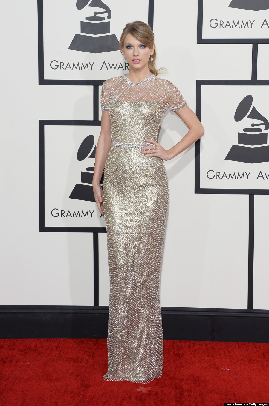 Taylor Swift's Grammys 2014 Dress Is So Bright It Hurts ...