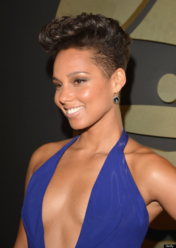 alicia keys grammy dress 2014