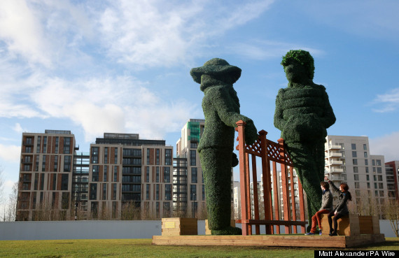 topiary sculptures at victory park