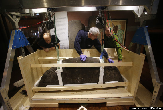 ancient gravestone moved to museum