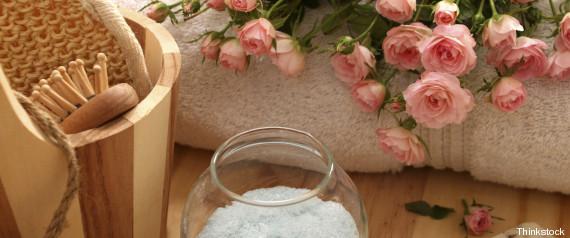 banho rosas relaxar