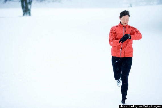 middleage woman running