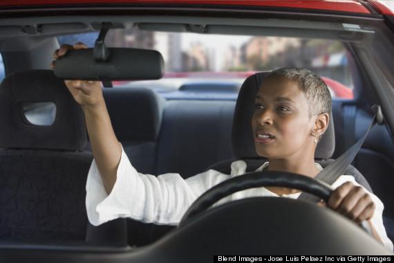 black woman mirror