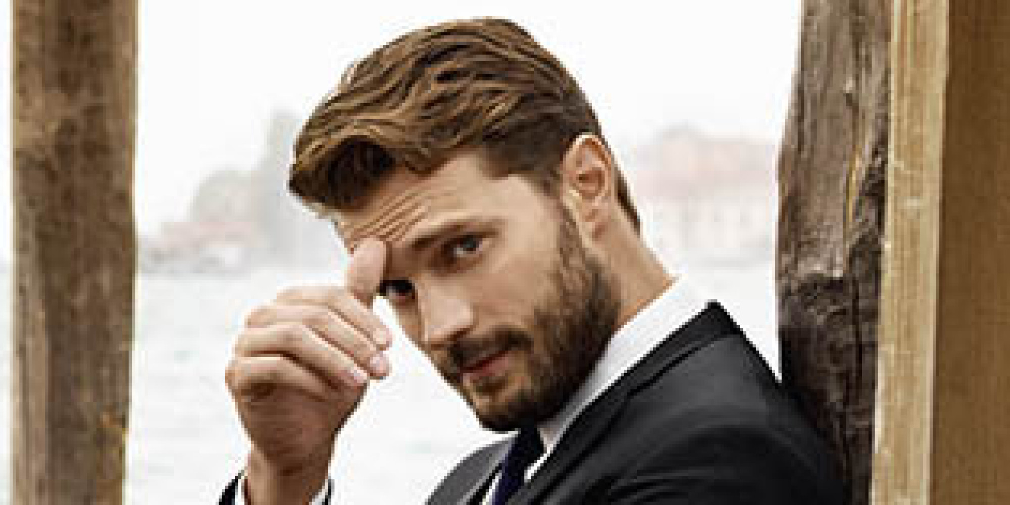 Jamie dornan poses in ads for hogan giving his best christian grey