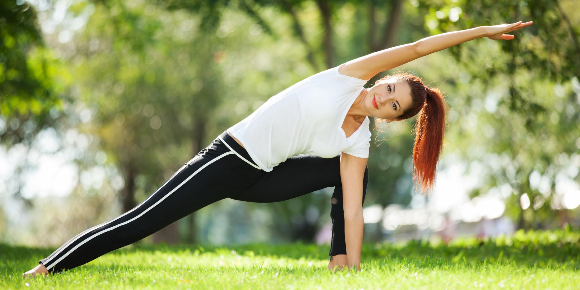 Фото фитнес девушек на природе
