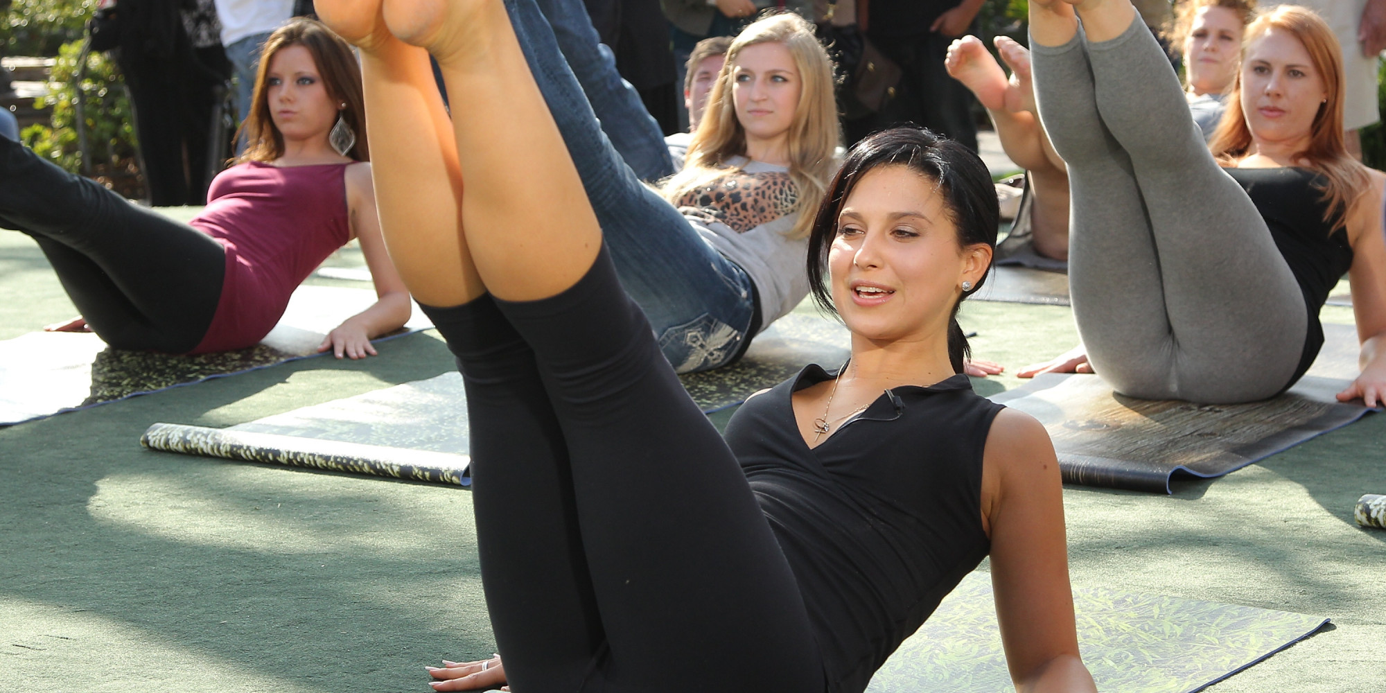 The 10 Least Appropriate Places Hilaria Baldwin Has Done Yoga