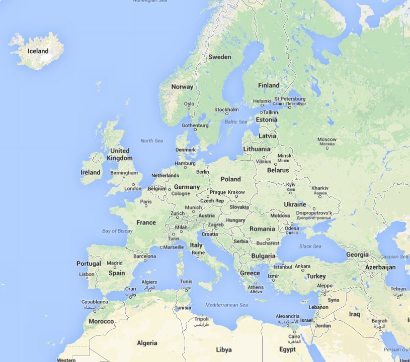 google maps world